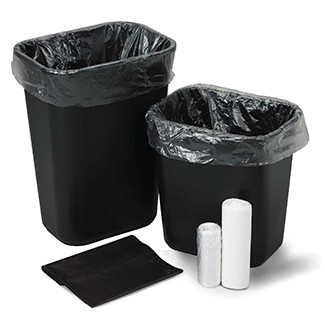 Institutional Trash Can Liners - HDPE Film, Flat Pack