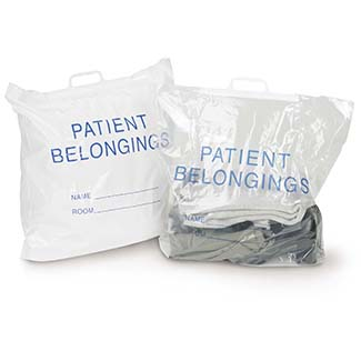Patient Belonging Bag, Flat Pack w/Drawstring