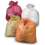 Autoclavable Biohazardous Waste Bags - HDPE Film w/ Indicator, Max Temp 260° F, Flat Pack