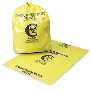 Chemotherapy Waste, CYTA SymbolMeets A.S.T.M. Dart Testing Requirements, Flat Pack