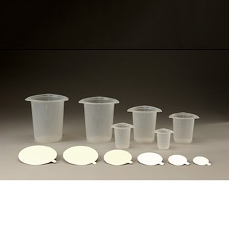 Tri-Pour Beakers & Paper Lids